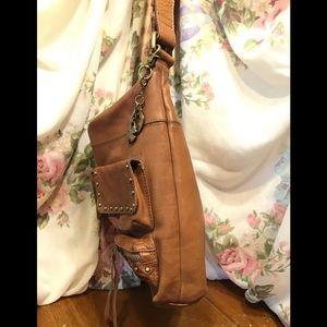 Lucky Brand Bags - Lucky Brand's Vintage Tan Leather Hobo Bag